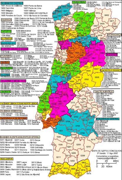 mapa com os concelhos de portugal Mapa Dos QZP | A Educação do meu Umbigo mapa com os concelhos de portugal