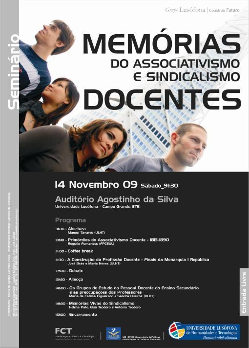 Cartaz Seminário Memorias do Associativismo e Sindicalismo Docente_09