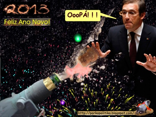 Passos Coelho+2013+Passagem de ano+CChampanhe