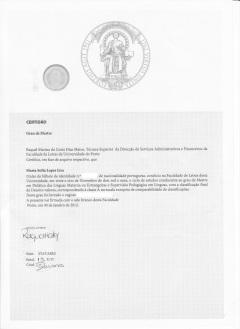 Irregular Certificado Mestrado